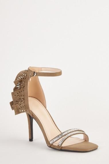 Sandale cu toc eOutlet 654231-295514-272 Negru