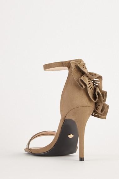 Sandale cu toc eOutlet 654231-295515-154898 Gri