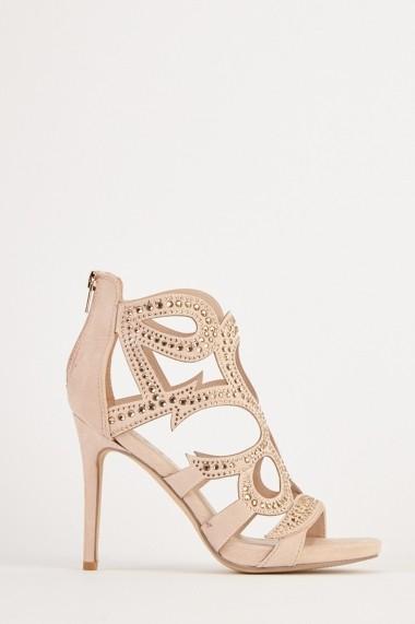 Sandale cu toc eOutlet 654510-295958-140980 Crem