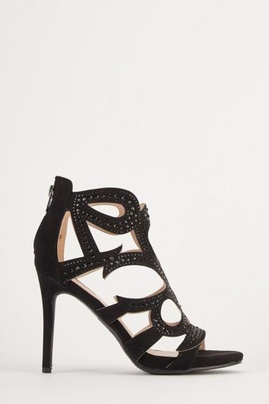 Sandale cu toc eOutlet 654510-295959-270 Negru