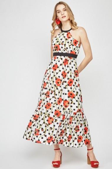 Rochie lunga de zi eOutlet 653043-293427-140984 Florala