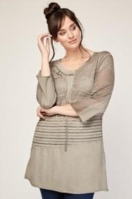 Bluza Plus Size eOutlet 651940-291321-153848 Gri