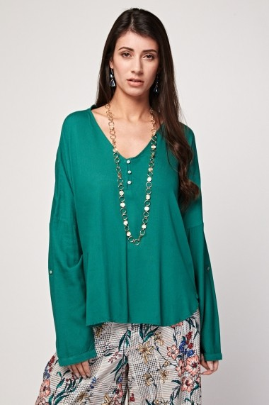 Bluza eOutlet 654555-296075-2124 Verde