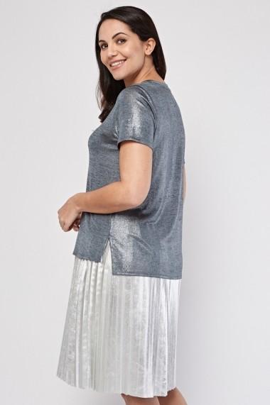 Bluza eOutlet 655029-296804-2146 Argintie