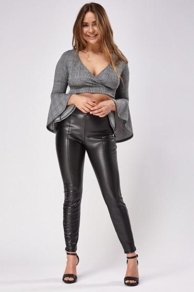 Pantaloni skinny 626480-240627 Negru - els