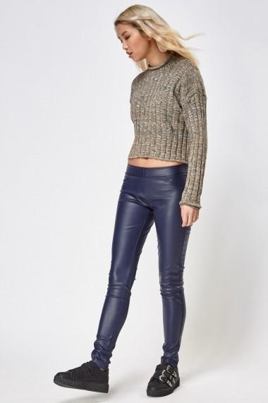 Pantaloni slim 626636-240903 Bleumarin