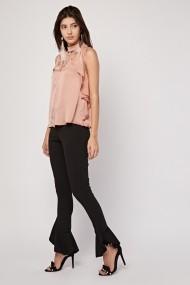 Pantaloni skinny eOutlet 654148-295402-147671 Negru