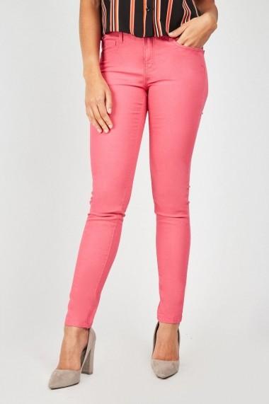 Pantaloni chino skinny eOutlet 655333-297264-9468 Fucsia