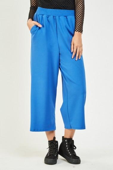 Pantaloni evazati 638972-264904 Albastru