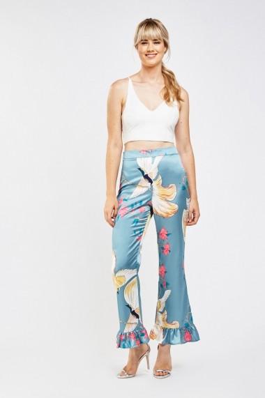 Pantaloni largi 638124-263273 Multicolor