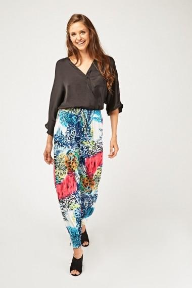 Pantaloni largi 638119-263264 Multicolor