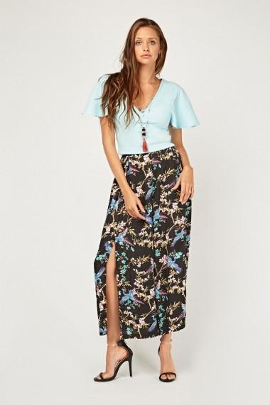 Pantaloni largi 637989-262997 Multicolor