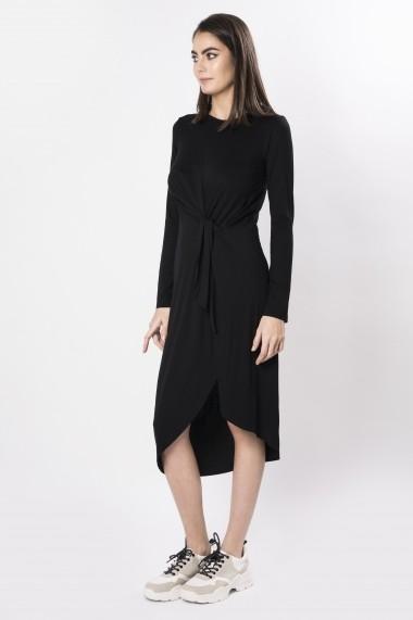 Rochie midi din tricot cu nod
