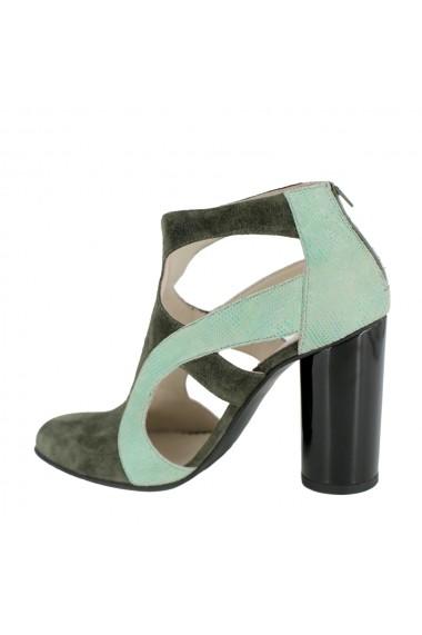 Pantofi cu toc Luisa Fiore Camomilla LFD-CAMOMILA-01 verde