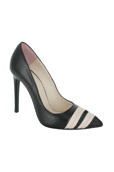 Pantofi cu toc Luisa Fiore Dianthus LFD-DIANTHUS-02 negru