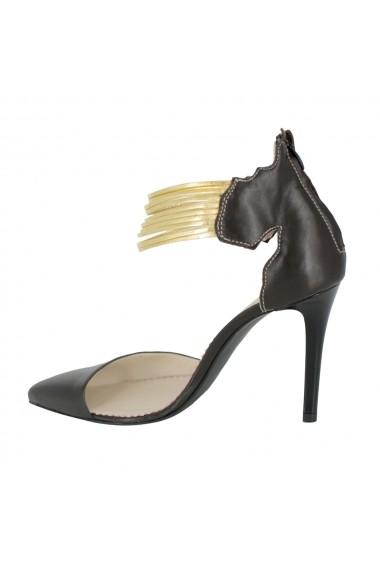 Pantofi cu toc Luisa Fiore Helen LFD-HELEN-02 maro