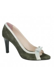 Pantofi cu toc Luisa Fiore Lilium LFD-LILIUM-01 verde