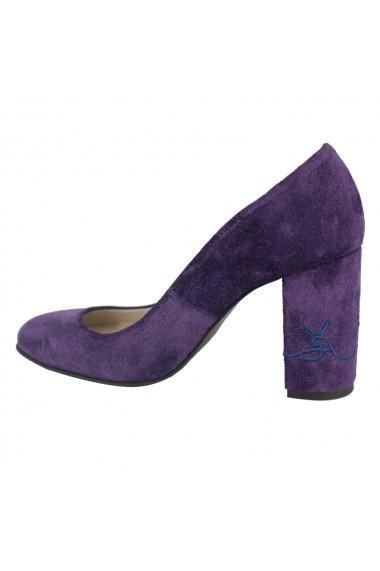 Pantofi cu toc Luisa Fiore Narcisi LFD-NARCISI-02 violet