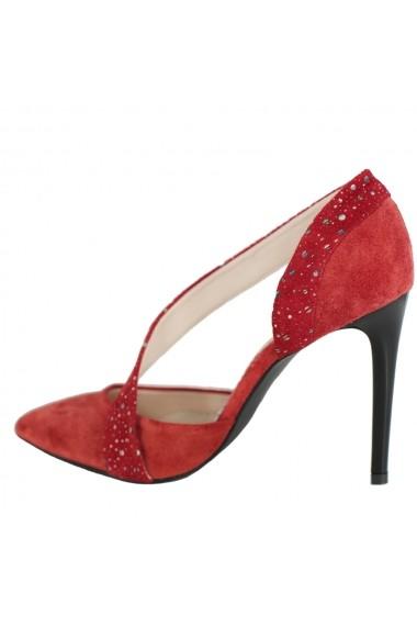 Pantofi cu toc Luisa Fiore Neri LFD-NERI-03 rosu