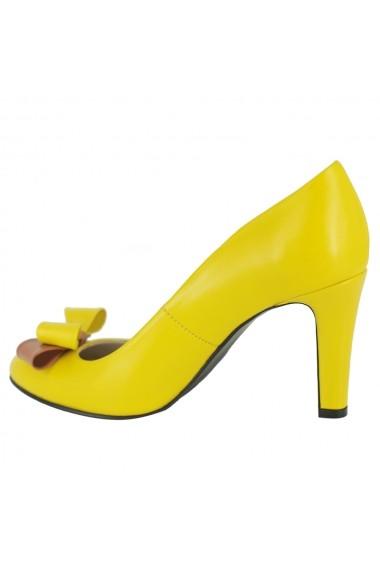 Pantofi cu toc Luisa Fiore della Regione LFD-REGIONE-04 galben