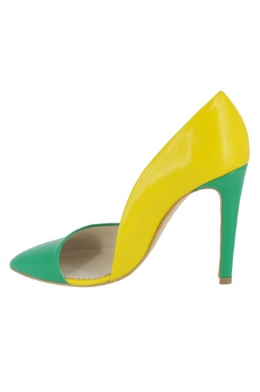 Pantofi cu toc Luisa Fiore Tulipano LFD-TULIPANO-04 verde