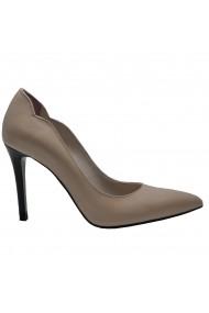Pantofi cu toc Luisa Fiore Agave, piele naturala, bej