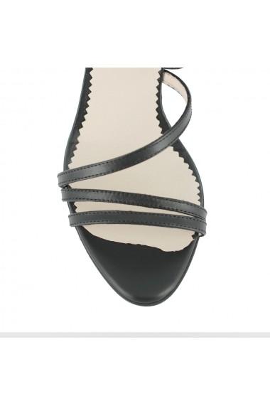 Sandale cu toc Luisa Fiore Ammiraglio LFD-AMMIRAGLIO-01 negru