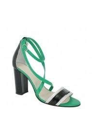 Sandale cu toc Luisa Fiore Crisantemo LFD-CRISANTEMO-01 Verde