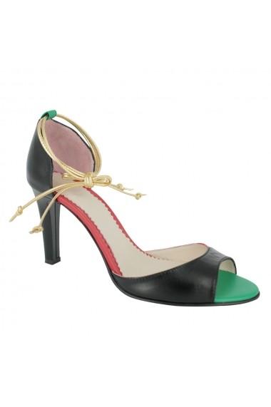 Sandale cu toc Luisa Fiore Ortensia LFD-ORTENSIA-01 negru