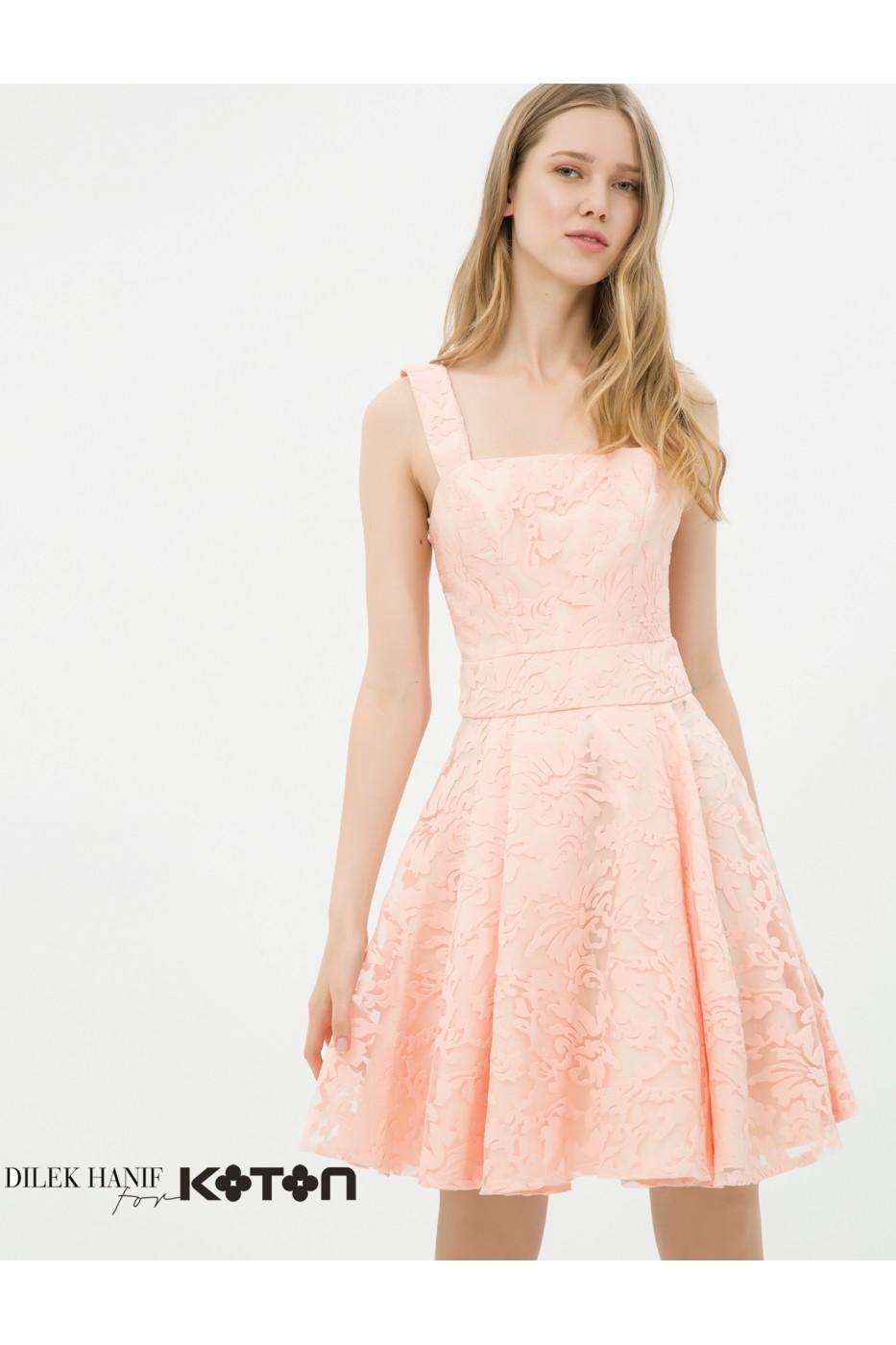 Rochie De Seara Koton 6yak84595dw Roz Fashionup