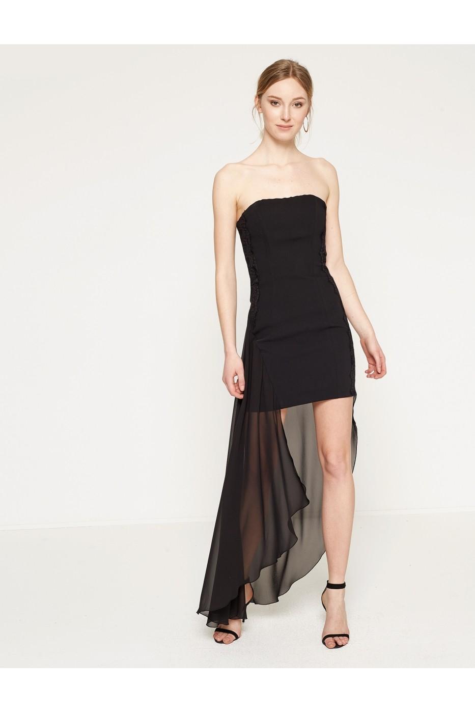 Rochie De Seara Koton 7yak84030sw Neagra Fashionup