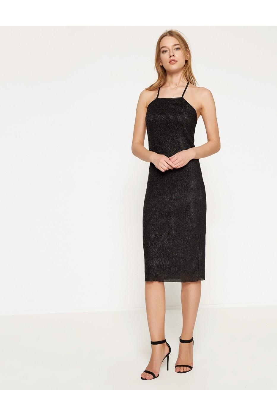 Rochie De Seara Koton 7yak84996fk Neagra Fashionup