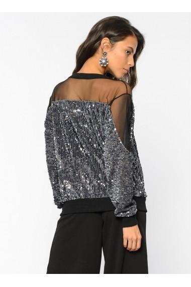 Bluza Bambina Mia KR2382-GRI Argintiu - els