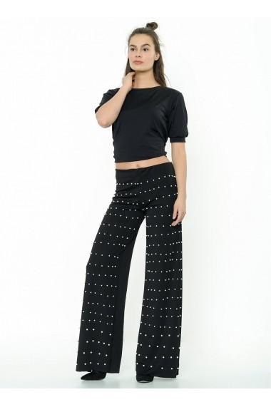 Pantaloni largi Bambina Mia KR2314-SIYAH Negru