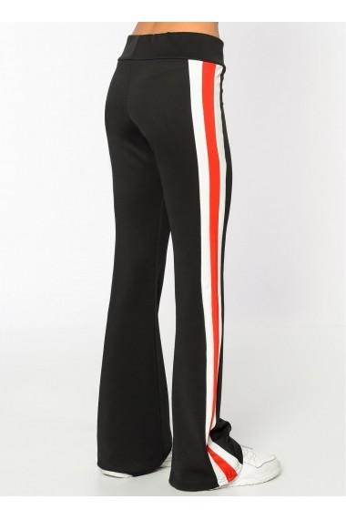 Pantaloni largi Bambina Mia KR2343-SIYAH Negru