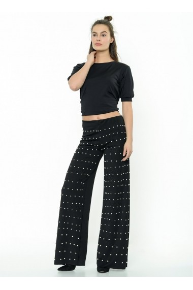 Pantaloni largi Bambina Mia KR2314-SIYAH 1 Negru
