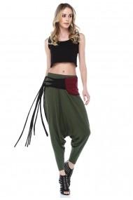 Pantaloni largi Quincey DPM4016 Verde