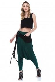 Pantaloni largi Quincey DPM4017 Verde
