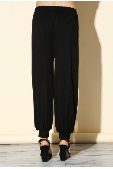 Pantaloni largi Quincey DP3001 Negru