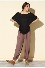 Pantaloni largi Quincey DP3002 Gri-Bej