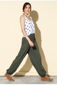 Pantaloni largi Quincey DP3000 Verde