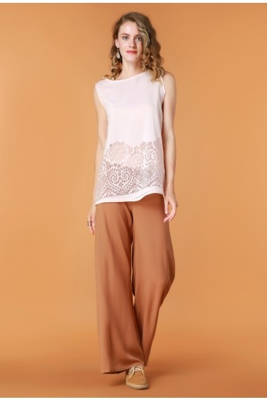Pantaloni largi Quincey DP2103 Camel
