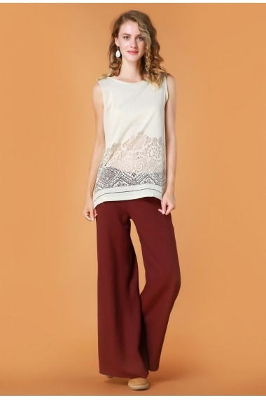 Pantaloni largi Quincey DP2106 Bordo