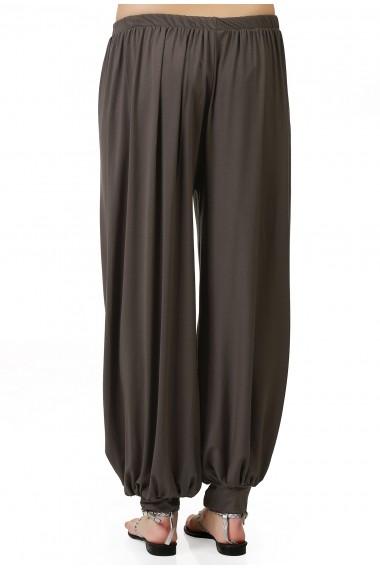 Pantaloni largi Quincey DP2004 Gri-Bej