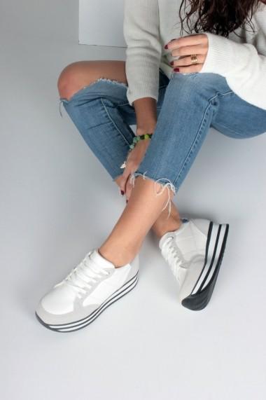 Pantofi sport casual Inan Ayakkabi INAY1010GSBC alb