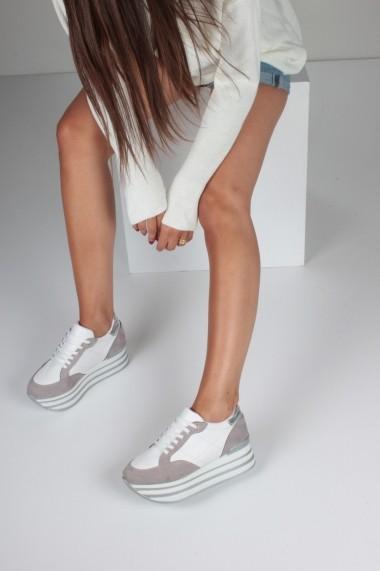 Pantofi sport casual Inan Ayakkabi INAY1090GRSTBC Gri-Bej