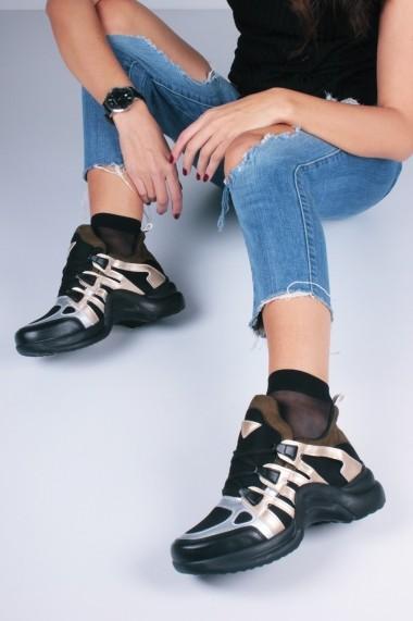 Pantofi sport casual Inan Ayakkabi INAY2021LAME negru