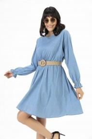 Rochie By Saygi S-20Y2060021 albastru