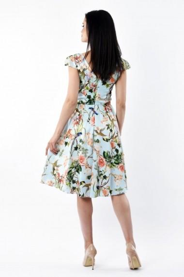 Rochie de zi Lille Couture 19RZM 038 din matase sintetica Liana floral