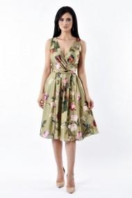 Rochie de zi Lille Couture 19RZM 042 din matase sintetica Sofia Floral